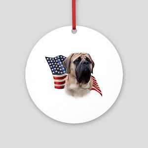 Mastiff(fawn) Flag Ornament (Round)
