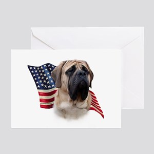 Mastiff(fawn) Flag Greeting Cards (Pk of 10)