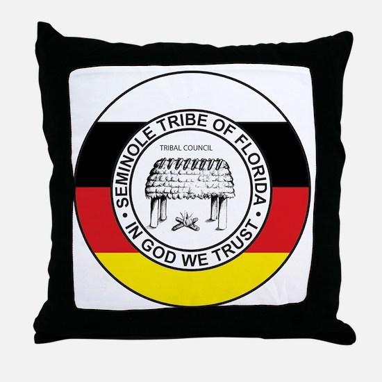 TribalSeal300dpi Throw Pillow