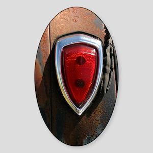 VINTAGE TAIL LIGHT Sticker (Oval)