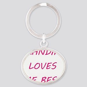 Grandma Loves Me Oval Keychain