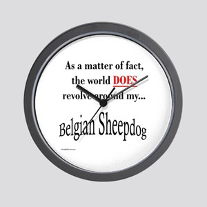 Belgian Sheepdog World Wall Clock