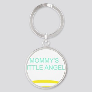 MOMMYS LITTLE ANGEL Round Keychain