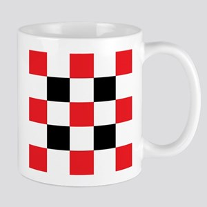 Black and White and Red Square Mugs