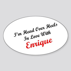 In Love with Enrique Oval Sticker
