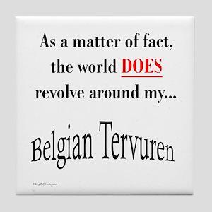 Belgian Tervuren World Tile Coaster