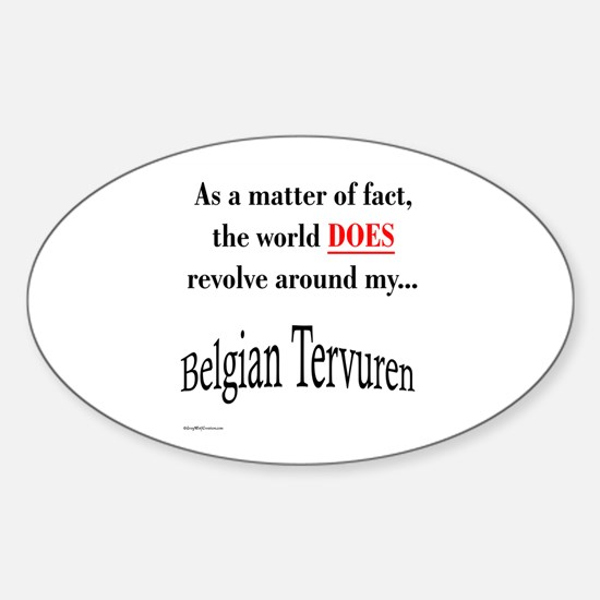 Belgian Tervuren World Oval Decal