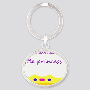 Grandmas Little Princess Oval Keychain