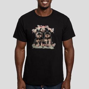 flowers2 Men's Fitted T-Shirt (dark)