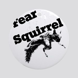 RallySquirrelWhite Round Ornament