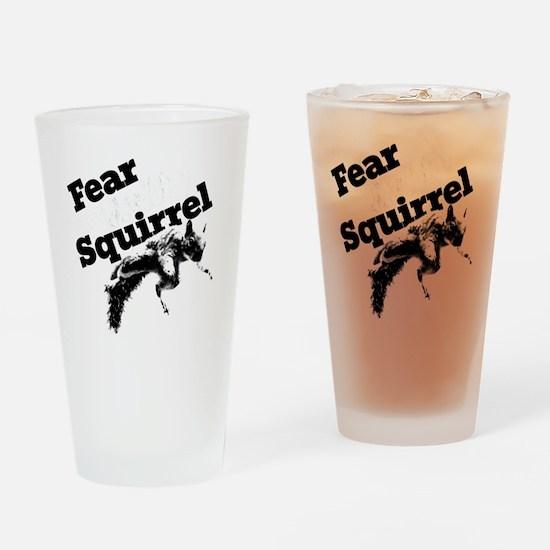 RallySquirrelWhite Drinking Glass
