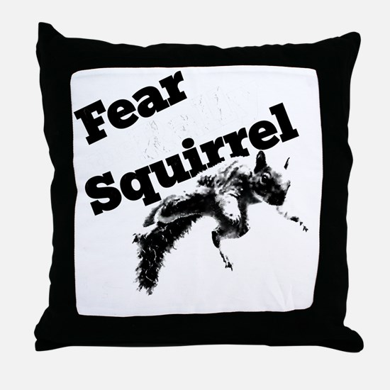 RallySquirrelWhite Throw Pillow
