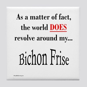 Bichon Frise World Tile Coaster