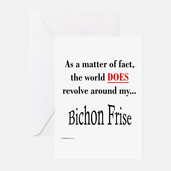 Bichon Frise World Greeting Cards (Pk of 10)