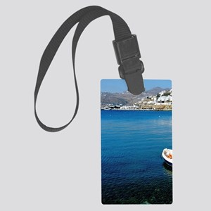 Mykonos. Clear waters of the Aeg Large Luggage Tag