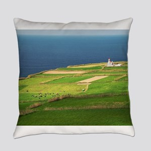 Pastures and lighthouse Everyday Pillow