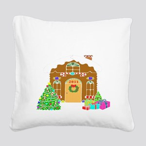 First Home 2011White Square Canvas Pillow