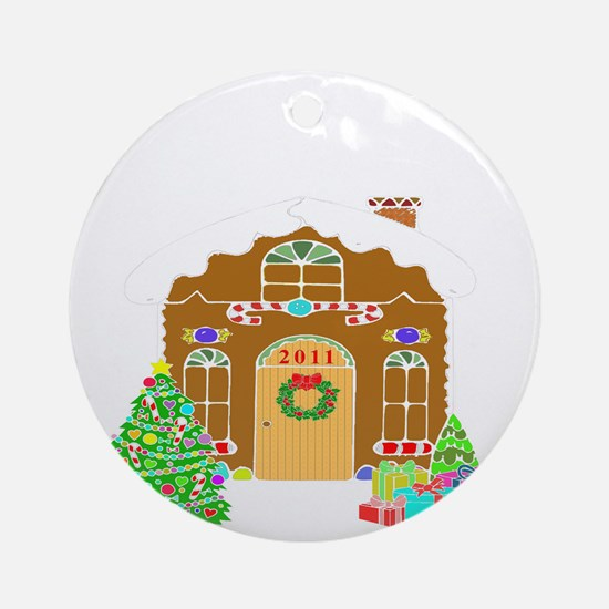 First Home 2011White Round Ornament