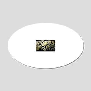 GearsClutchBag 20x12 Oval Wall Decal