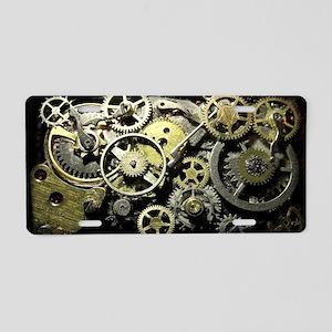 GearsCoinPurse Aluminum License Plate