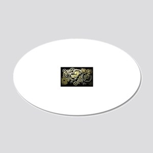 GearsCoinPurse 20x12 Oval Wall Decal