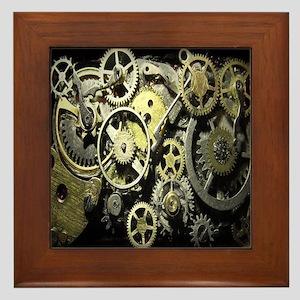 GearsLRGClock Framed Tile