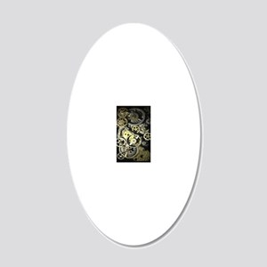 GearsIphone4Slider 20x12 Oval Wall Decal