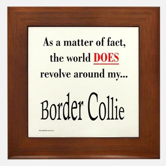 Border Collie World Framed Tile