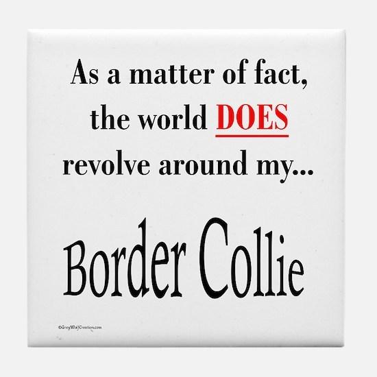 Border Collie World Tile Coaster