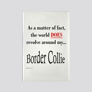 Border Collie World Rectangle Magnet