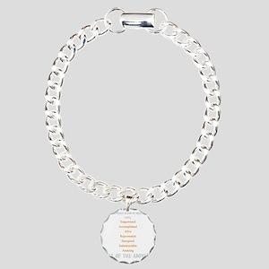 BreakingPoint_10x10dark Charm Bracelet, One Charm