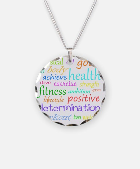 fitness words Necklace