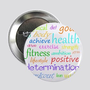 """fitness words 2.25"""" Button"""