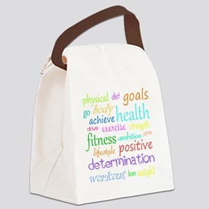 fitness words Canvas Lunch Bag