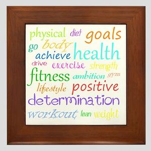 fitness words Framed Tile