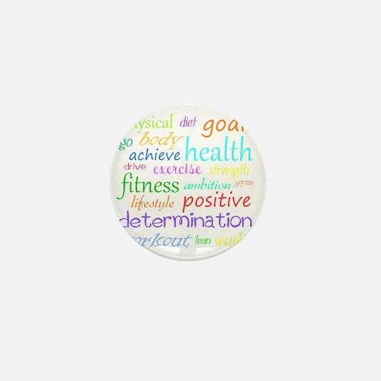 fitness words Mini Button