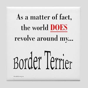 Border Terrier World Tile Coaster