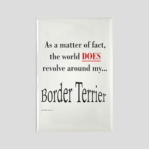 Border Terrier World Rectangle Magnet