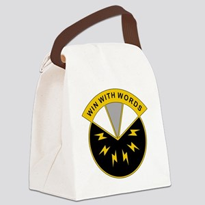 17th Psychological Operations Bat Canvas Lunch Bag
