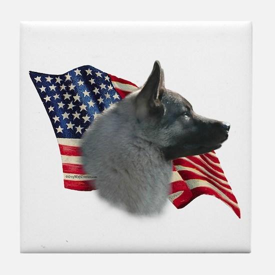 Elkhound Flag Tile Coaster