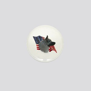 Elkhound Flag Mini Button