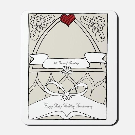 wedding_40_anniversary_print Mousepad