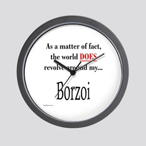 Borzoi World Wall Clock