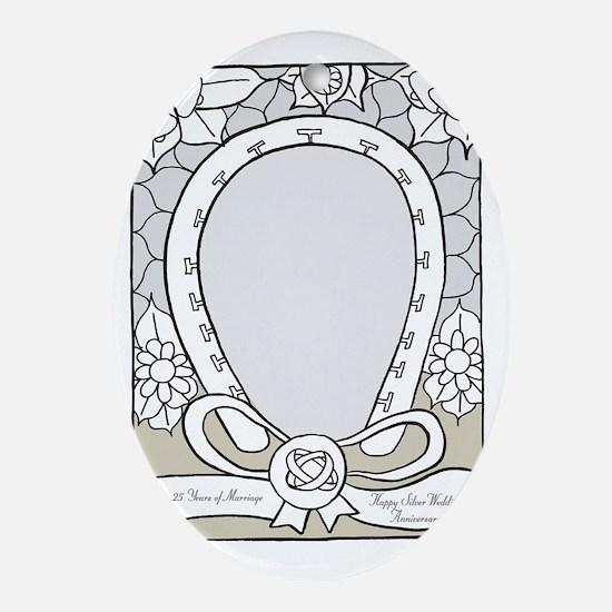 wedding_25_anniversary_print Oval Ornament