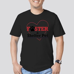 Foster a Shelter Pet F Men's Fitted T-Shirt (dark)