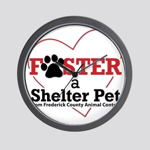 Foster a Shelter Pet Frederick MD Wall Clock
