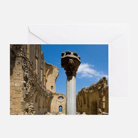 Cyprus, Bellapais, Gothic Abbey Greeting Card