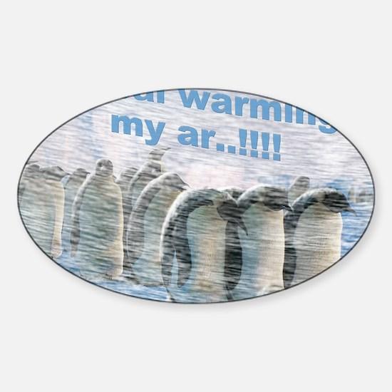 557 Global Warming Penguins for Caf Sticker (Oval)
