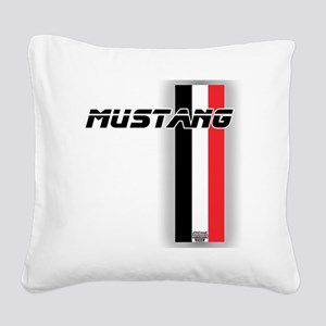 mustangBWR Square Canvas Pillow