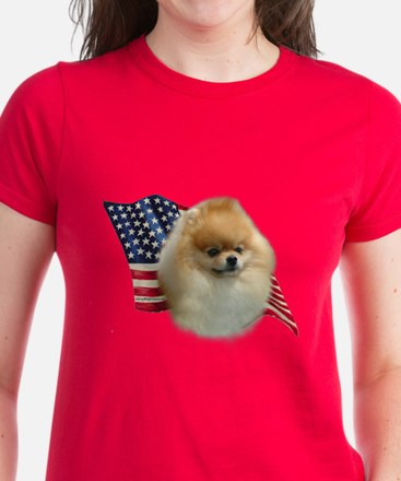 Pomeranian Flag Women's Dark T-Shirt